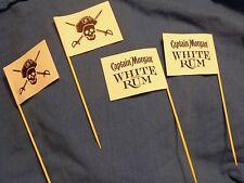 Captain Morgan White Rum - Set of 4 Drink Flags - Skull & Crossbones - NEW