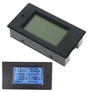 DC-100A-corriente-de-voltios-LCD-kWh-Vatios-Panel-Amperimetro-Voltimetro-Multimetro-Medidor-De