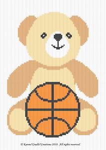 teddy-bear | Crochê pixel, Padrão de tricô, Ponto cruz para bebê | 300x213