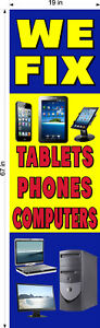 NEW-PERFORATED-WINDOW-DECAL-COMPUTER-TABLETS-PHONE-REPAIR-19-034-X-67-034-VERTICAL