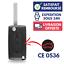Boitier-de-Telecommande-Coque-Plip-pour-Clef-CITROEN-C4-Picasso-Jumpy-Jumper miniature 1