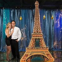 Eiffel Tower 2d Lighted Cardboard Cutout Standup Standee Poster 12 Feet Tall F/s
