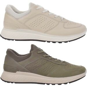 ecco leather trainers