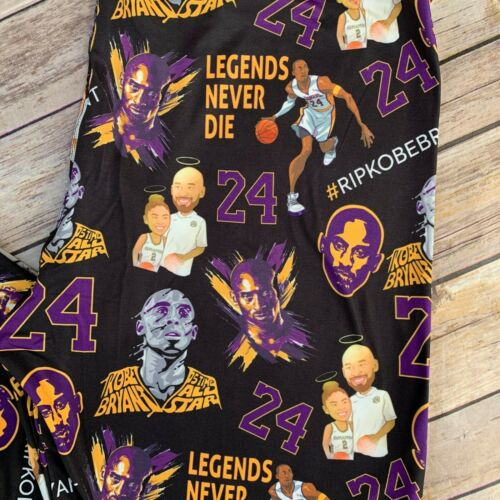 Kobe Bryant RIP #24 Lakers Women/'s Leggings Plus Size TC 12-20