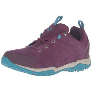 Columbia Women Boots Fire Venture Low Waterproof Hiking Purple