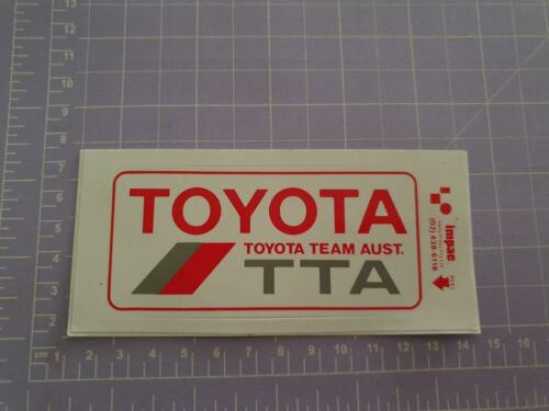Toyota team Australia 12cm x 6cm approx As per image