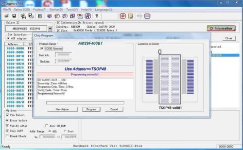 TL866II programador 13 adaptadores IC Clip 1.8V NAND Flash BIOS Eprom Mcu 24 93 25