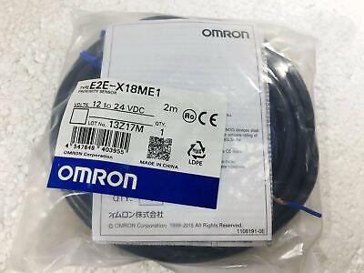 OMRON PROXIMITY SWITCH SENSOR E2E-X1C2 E2EX1C2 12-24 VDC 2M NEW