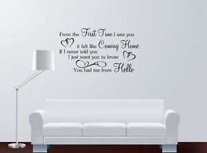 You Had Me At Hello Quote | Bon Jovi You Had Me From Hello Song Lyrics Quote Vinyl Sticker Wall