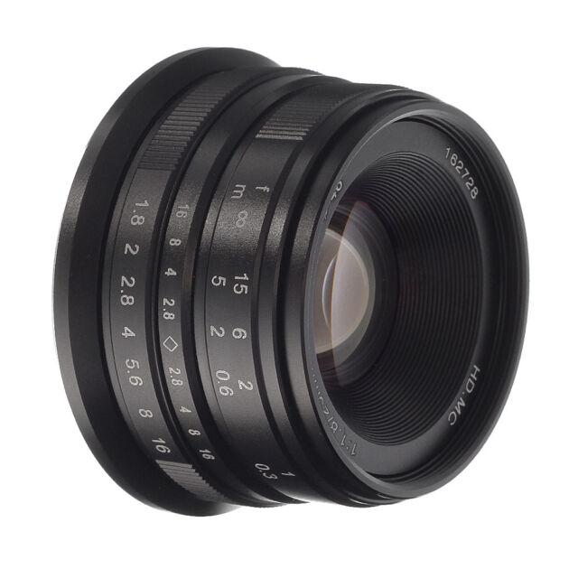 25mm F/1.8 Manual Focus Camera lens For Panasonic Olympus M4/3 Mount GF9 GH5
