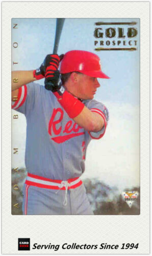1994 Futera Australia Baseball Regular Gold Prospect Card 114 Adam Burton