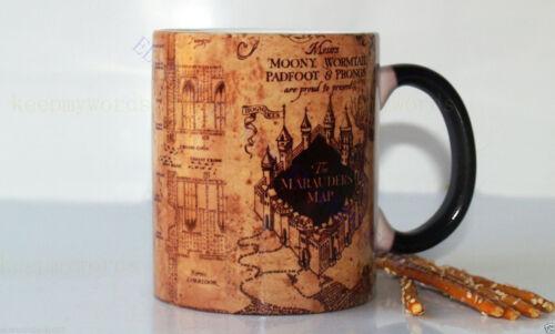 Harry Potter Magic Mug Coffee Colour Changing Cup Heat Sensitive Marauder/'s Map