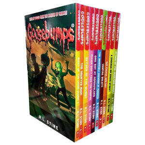 R-L-Stine-Goosebumps-Series-10-Books-Collection-Set-One-Day-at-Horrorland-NEW