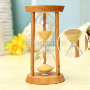 3-Mins-Wooden-Frame-Sandglass-Sand-Glass-Hourglass-Timer-Clock-Decor-Unique-Gift
