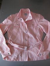 Jacke Gr. 34, XS Trenchcoat Blazer Jacke mit Gürtel Jacket Blusenjacke, Blue Mot