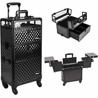 Nail Polish Makeup Beauty Rolling Trolley Case Storage Holds Up To 54 Bottles