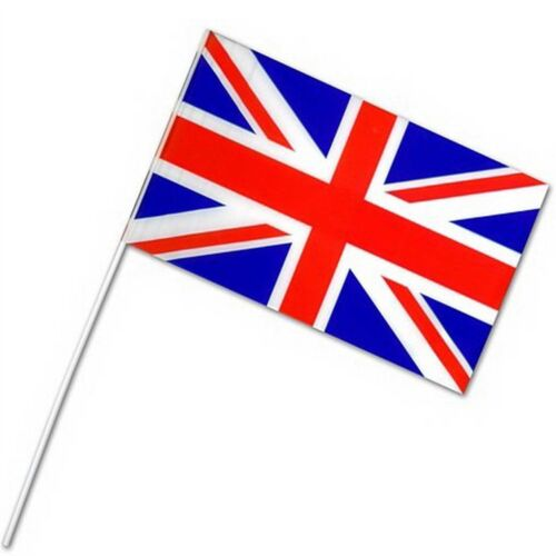 50 Union Jack Hand Waving Flags Royal Event Street Party Celebrations Support