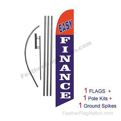 EASY FINANCE red//yel 15 WINDLESS SWOOPER FLAGS KIT two 2