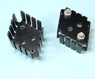 TO-3 HEATSINK TRANSISTOR SEMICONDUCTOR BLACK ANODIZED HIGH PROFILE 1