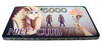 10 $5000 Nile Club 40 Gram Casino-style Ceramic Poker Plaques