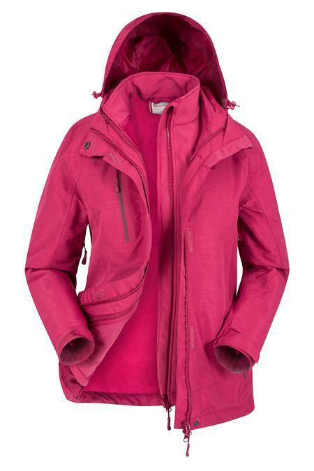 Mountain Warehouse Womens Womens Womens Waterproof 3 In 1 Breathable with Storm Flap Size 12 a4a5bc