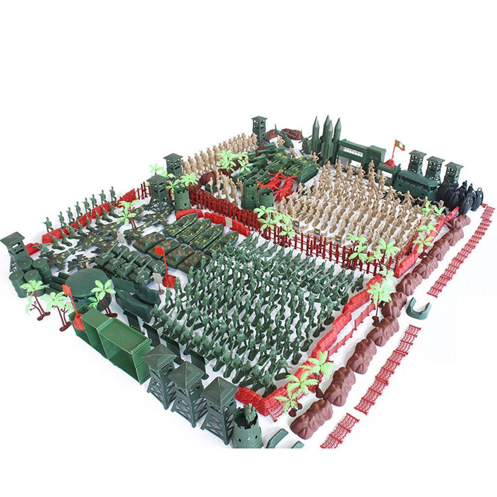 520pcs Set Military Model Playset Toy Soldier Army Men 5cm Action Figures