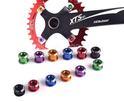 Bike Crank Set Lock Screw Colorful Chainwheel MTB Fixed Gear Racing Bike Nut