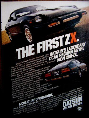 """1979 Datsun 280 ZK Original Print Ad-8.5 x 10.5 /""""NISSAN-The First ZX"""