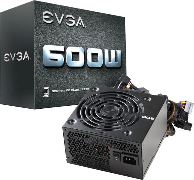 EVGA - 600W ATX 12V/EPS 12V 80 Plus Power Supply - Black