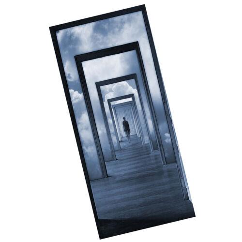 Adesivo Murale Porta 3D Rimovibile Artigianato per Bagno Balcone Soggiorno