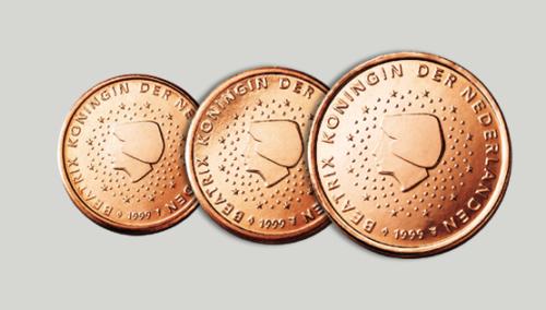 1c, 2c Et 5 Cents Pays-bas 2005. Unc Le Prix Reste Stable