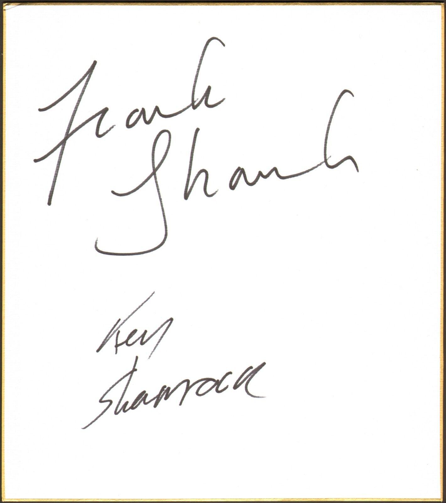 Ken & Frank Trèfle Signé Shikishi Art Planche Bas COA UFC 22 Pancrase Autographe