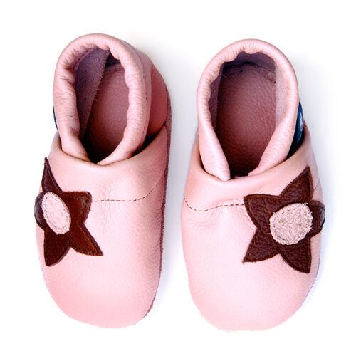 Pantau Lederpuschen Lauflernschuhe Krabbelschuhe Leder Babyschuhe mit Blumen