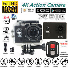 "4K SJ8000R 1080P Ultra 2.0"" Wifi Sport DV Action Camera Camcorder+Remote Control"