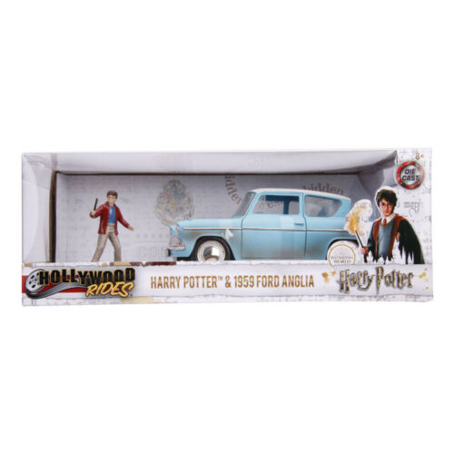 HARRY POTTER Hollywood Rides 1959 Ford Anglia Die-cast Toy Car with Harry Die