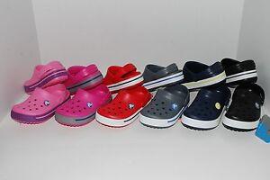 NWT CROCS CROCBAND KIDS PINK GREEN PURPLE BLACK 6//7 10//11 12//13 1 2 3 CLOGS shoe