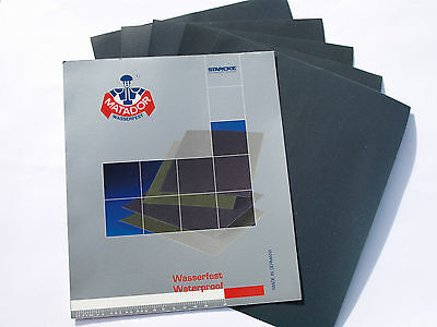 Wet and Dry Paper Sandpaper 60 - 7000 grit Abrasive Waterproof  Sheets STARCKE