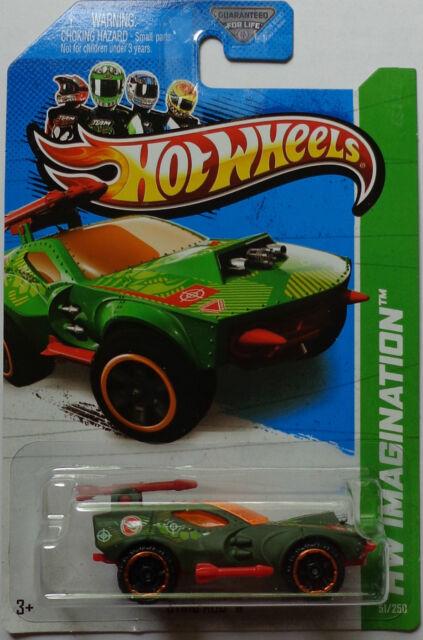 2013 Hot Wheels HW Racing Secret Treasure Hunts Sting Rod II 51/250 (Green)