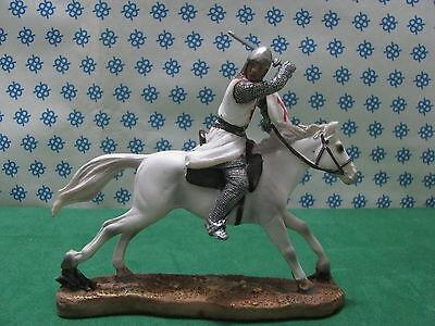 Cordiale Raro E Unico - Cavaliere Templare Crociato In Battaglia - Cm. 5x14x16