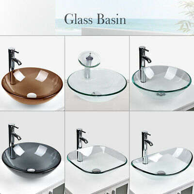 Tempered Clear Gl Vessel Sink