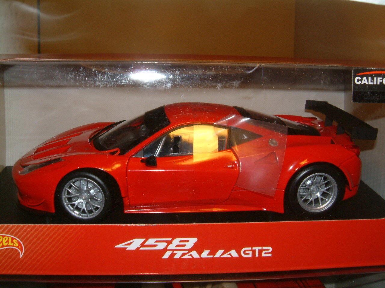 Ferrari 458 Italia GT2 en rojo, Hot Wheels de Mattel.