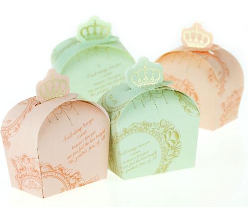 100x Scatole Bomboniere Corona Imperiale Portaconfetti Matrimonio Battesimo