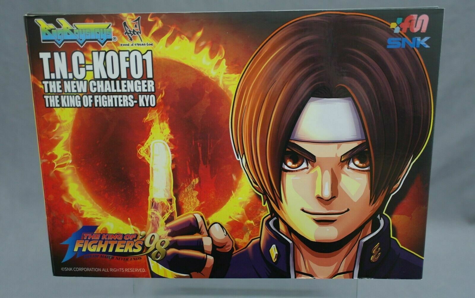 The King of Fighters 98 T.N.C KOF01 Kyo Kusanagi Big Boys Toys Japan NEW