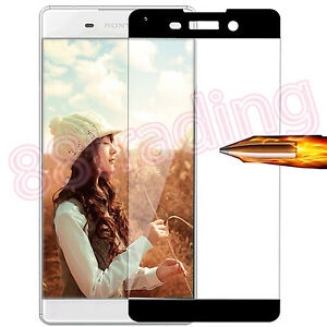FULL-SIZE-FIT-BLACK-TEMPERED-GLASS-SCREEN-PROTECTOR-PREMIUM-FOR-SONY-XPERIA-XA