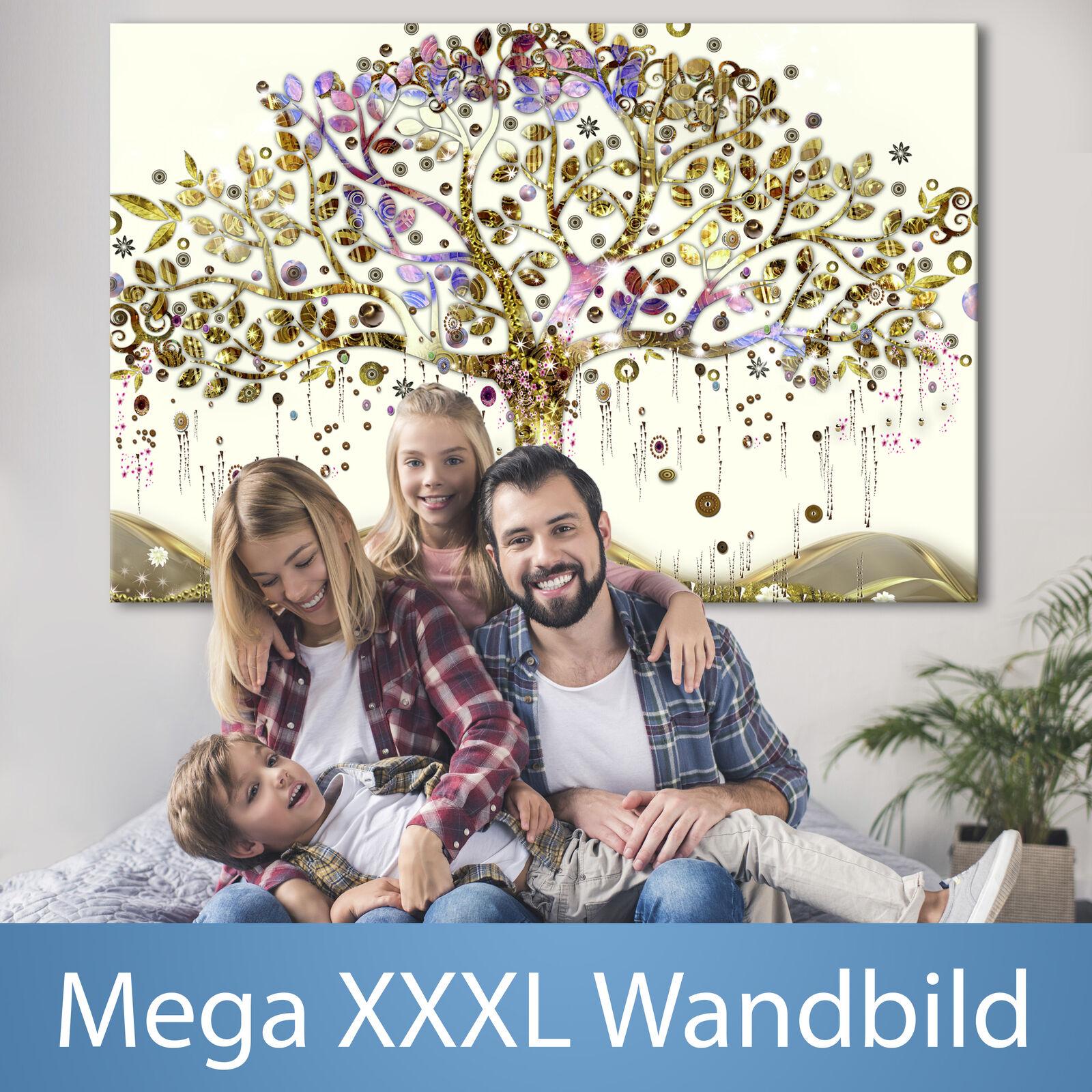 XXXL Wandbild Baum Klimt Riesenformat Leinwandbild xxl Canvas Bild l-A-0009-ak-a