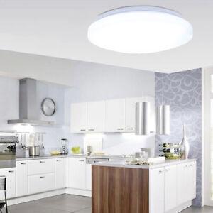 18W Round LED Ceiling Light Down Flush Mount Fixture Balcony Bedroom Lighting US