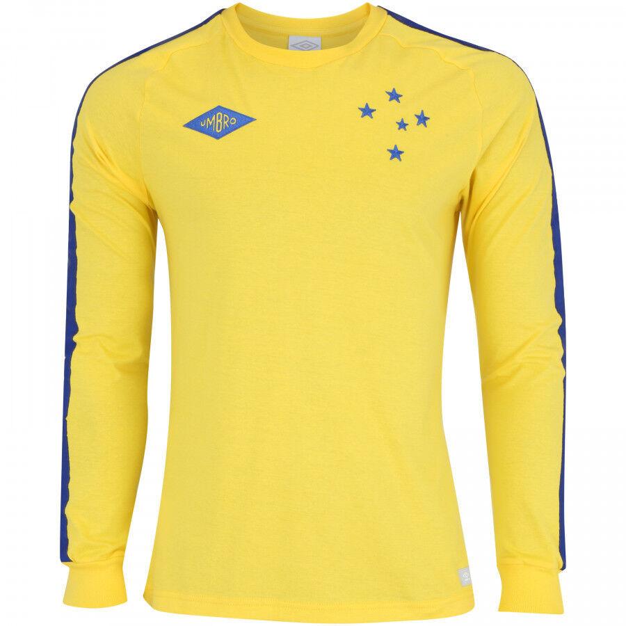 Cruzeiro Retro Goalekeeper 1966 Soccer Football Jersey Shirt --2018 Umbro Brazilië