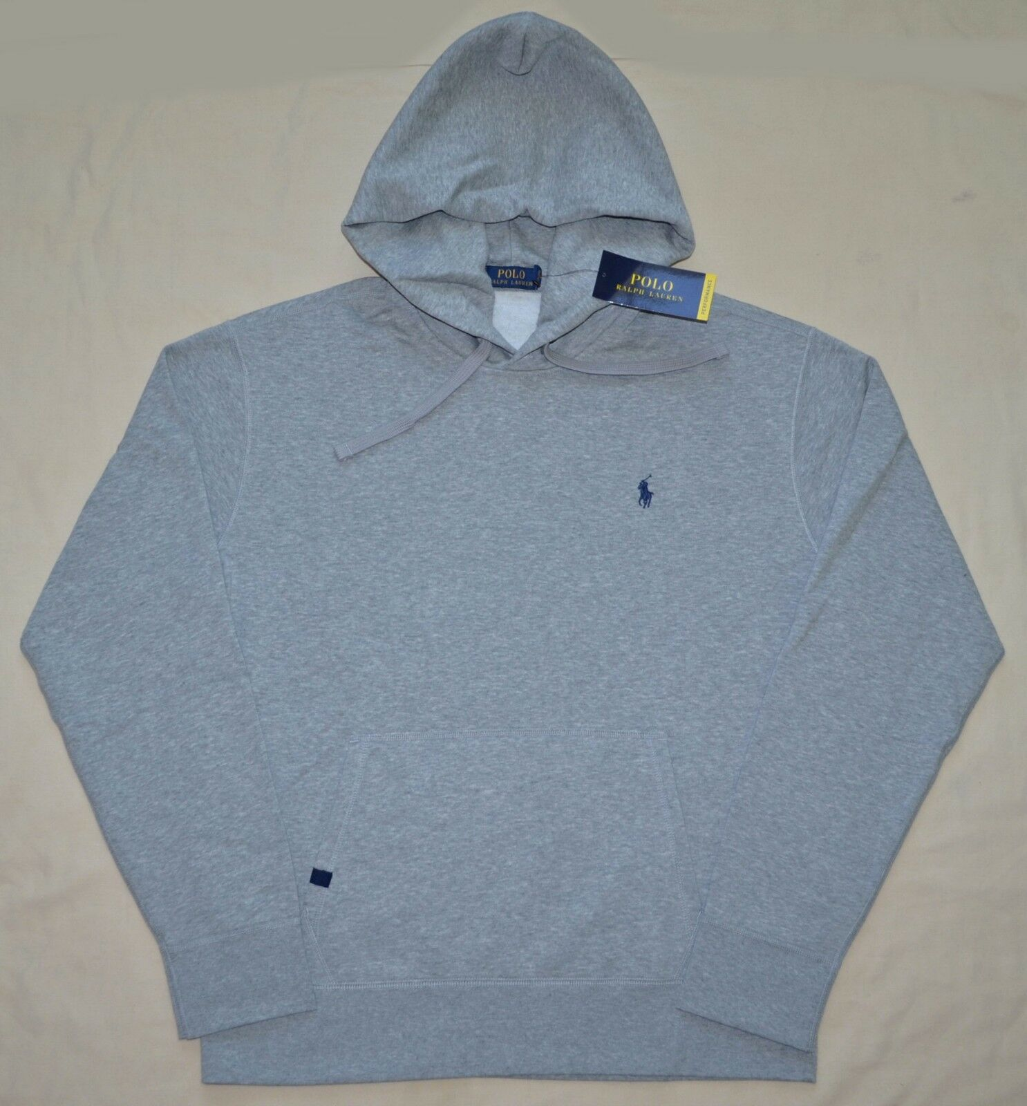 New Medium M POLO RALPH LAUREN  Herren pullover fleece hoodie sweatshirt grau Grau