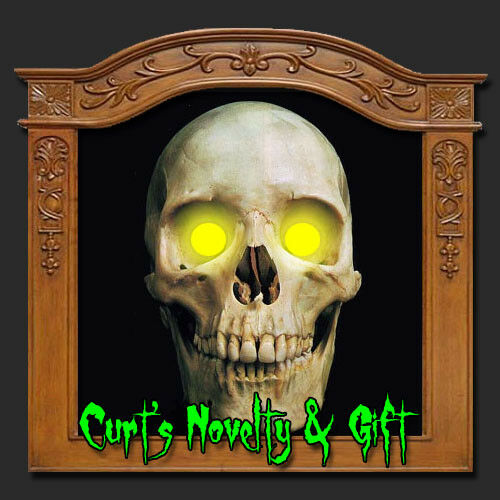 LED AMBER EYES HALLOWEEN PROP Crank Ghost Mask