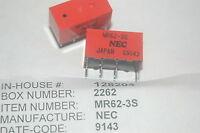 Nec Mr62-3s Through Hole Relay Lot Quantity-2